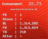 Domainbewertung - Domain www.keymandeluxe.de bei Domainwert24.de