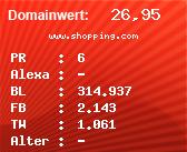 Domainbewertung - Domain www.shopping.com bei Domainwert24.de