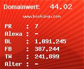 Domainbewertung - Domain www.booking.com bei Domainwert24.de