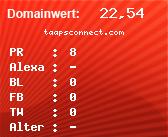Domainbewertung - Domain taapsconnect.com bei Domainwert24.de