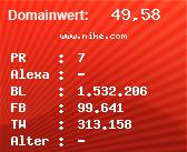 Domainbewertung - Domain www.nike.com bei Domainwert24.de