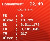Domainbewertung - Domain www.fb.com bei Domainwert24.de