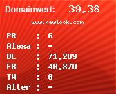Domainbewertung - Domain www.newlook.com bei Domainwert24.de