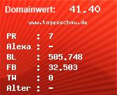 Domainbewertung - Domain www.tagesschau.de bei Domainwert24.de