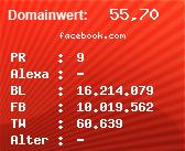 Domainbewertung - Domain facebook.com bei Domainwert24.de