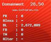 Domainbewertung - Domain www.instagram.com bei Domainwert24.de