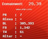 Domainbewertung - Domain www.sap.com bei Domainwert24.de
