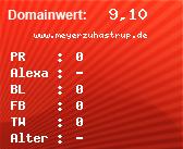 Domainbewertung - Domain www.meyerzuhastrup.de bei Domainwert24.de