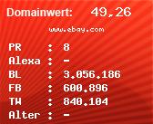 Domainbewertung - Domain www.ebay.com bei Domainwert24.de
