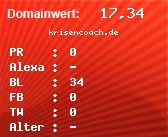 Domainbewertung - Domain krisencoach.de bei Domainwert24.de