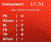 Domainbewertung - Domain www.1001kristall.de bei Domainwert24.de