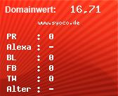 Domainbewertung - Domain www.syoco.de bei Domainwert24.de