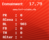 Domainbewertung - Domain www.hof-siebe.de bei Domainwert24.de