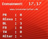 Domainbewertung - Domain www.innenmenister.de bei Domainwert24.de