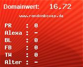 Domainbewertung - Domain www.randomboxes.de bei Domainwert24.de
