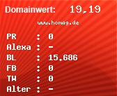 Domainbewertung - Domain www.homag.de bei Domainwert24.de