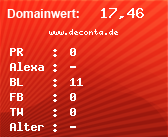Domainbewertung - Domain www.deconta.de bei Domainwert24.de