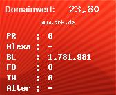 Domainbewertung - Domain www.drk.de bei Domainwert24.de