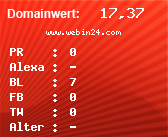 Domainbewertung - Domain www.webin24.com bei Domainwert24.de