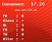 Domainbewertung - Domain www.webin24.de bei Domainwert24.de