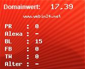 Domainbewertung - Domain www.webin24.net bei Domainwert24.de