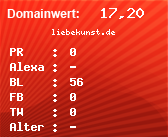 Domainbewertung - Domain liebekunst.de bei Domainwert24.de