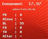 Domainbewertung - Domain webportale-24.de bei Domainwert24.de