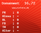 Domainbewertung - Domain www.pontare.de bei Domainwert24.de