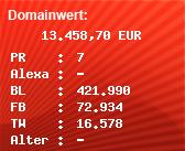 Domainbewertung - Domain www.web.com bei Domainwert24.de
