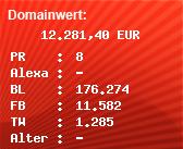 Domainbewertung - Domain www.zdf.de bei Domainwert24.de