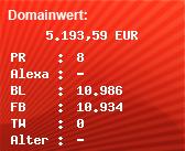 Domainbewertung - Domain www.officialmlkdream50.com bei Domainwert24.de