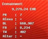 Domainbewertung - Domain www.ard.de bei Domainwert24.de