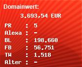 Domainbewertung - Domain pornhub.com bei Domainwert24.de