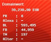 Domainbewertung - Domain www.xbox.com bei Domainwert24.de