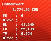 Domainbewertung - Domain www.xhamster.com bei Domainwert24.de