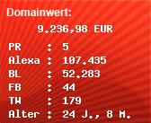 Domainbewertung - Domain www.nordkurier.de bei Domainwert24.de