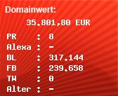 Domainbewertung - Domain dropbox.com bei Domainwert24.de