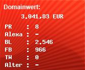 Domainbewertung - Domain adobe.de bei Domainwert24.de