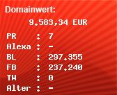 Domainbewertung - Domain www.vevo.com bei Domainwert24.de