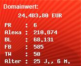 Domainbewertung - Domain www.gazprom.com bei Domainwert24.de