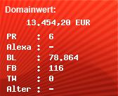 Domainbewertung - Domain www.steiermark.com bei Domainwert24.de