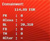 Domainbewertung - Domain www.vubu-medical.de bei Domainwert24.de