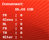 Domainbewertung - Domain chillex.de bei Domainwert24.de