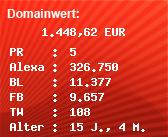 Domainbewertung - Domain www.top100station.de bei Domainwert24.de