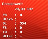 Domainbewertung - Domain www.traex-gebaeudereinigung.de bei Domainwert24.de