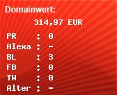 Domainbewertung - Domain www.bluetimber.com bei Domainwert24.de