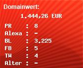 Domainbewertung - Domain www.anwaltinfos.de bei Domainwert24.de