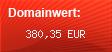 Domainbewertung - Domain www.paypal.de bei Domainwert24.de